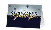 Black White Holiday Flip Greeting Card