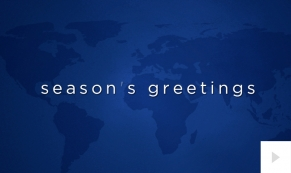 Languages corporate holiday business ecard