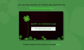 St. Patrick's Day holiday e-card