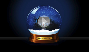 DirectTV Snowglobe Christmas ecard
