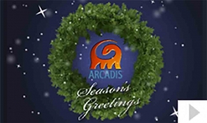 Arcadis 2012 custom corporate holiday business ecard