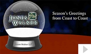 Jones Walker custom corporate holiday business ecard