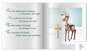 Story Book custom corporate holiday business ecard