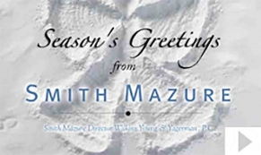Smith Mazure Snow Angel custom corporate holiday business ecard