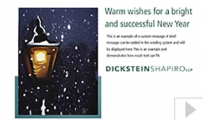 Dickstein Shapiro custom corporate holiday business ecard
