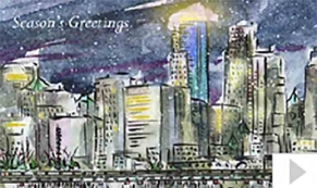Winthrop custom corporate holiday business ecard