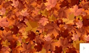 Autumn Breeze corporate holiday business ecard