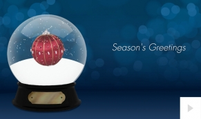 Holiday Snowglobe corporate holiday business ecard