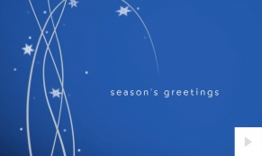 Whimsical Branches corporate holiday business ecard