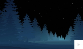 Forest Night corporate holiday business ecard