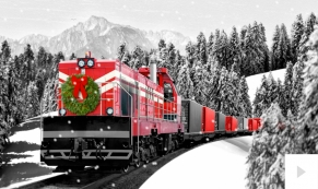 Holiday Train corporate holiday business ecard