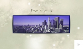 Dreamscape corporate holiday business ecard