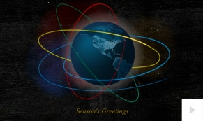 Orbital Brilliance corporate holiday business ecard