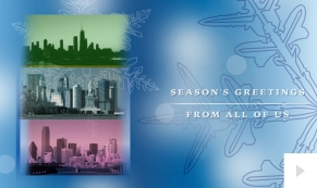 City Charm corporate holiday business ecard