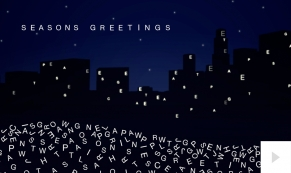 Type Tidings corporate holiday business ecard