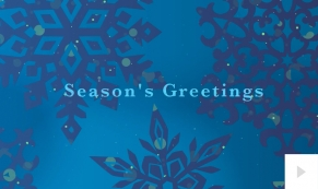Glimmer corporate holiday business ecard