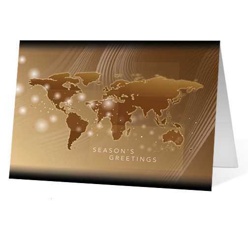 Wordly Glow corporate holiday business print card
