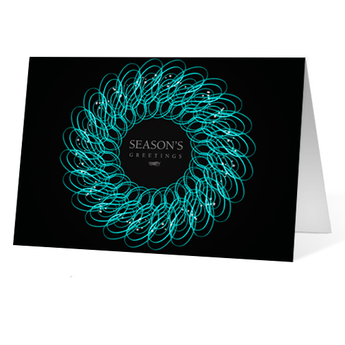 Intricate Wreath 2 corporate holiday business print card