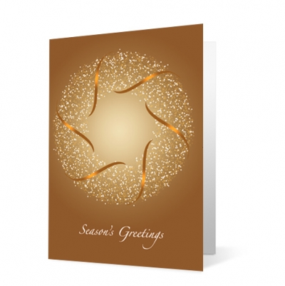 Spiral Lights corporate holiday business print card