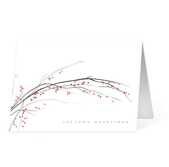 Holiday Sprig corporate holiday business Print card