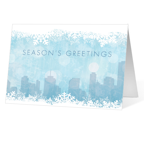 Winter Stroll corporate holiday business print card