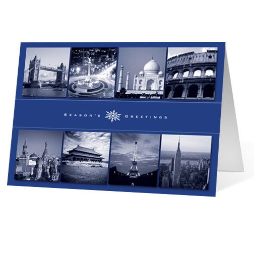 Worldly Greetings corporate holiday business print card