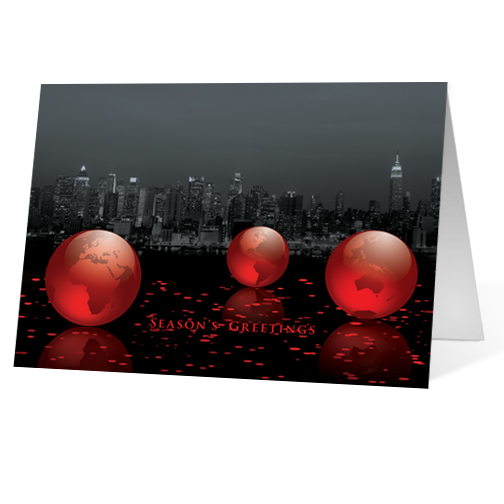 Pure Elegance corporate holiday business print card