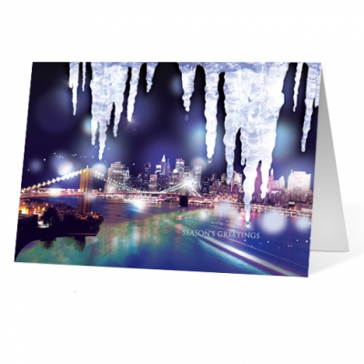 City Icicles corporate holiday business print card