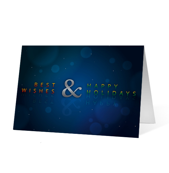 Ampersand Wishes corporate holiday business print card