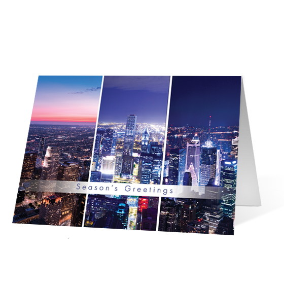 Aerial Greetings corporate holiday business print card