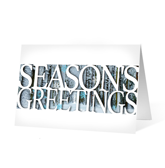 Seasonal Moments corporate holiday business print card