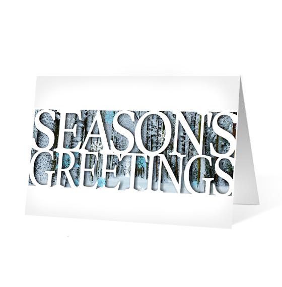 Seasonal Moments corporate holiday business print card
