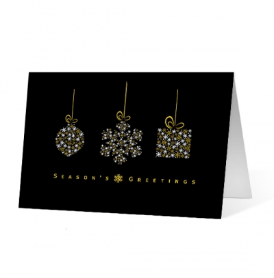 Snowdrop corporate holiday business print card