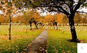Fall Happy Thanksgiving Holiday e-card thumbnail