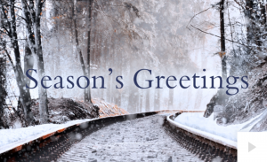 Winter is Coming Railway Tracks Holiday e-card thumbnail