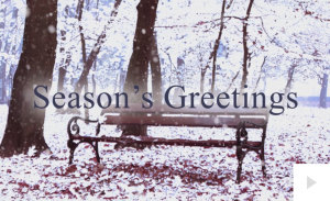 Winter is coming bench Holiday e-card thumbnail