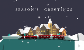Winter Train Holiday e-card thumbnail