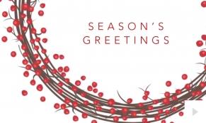 holiday berries Holiday e-card thumbnail