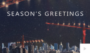 Winter Crane Holiday e-card thumbnail