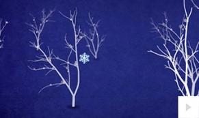 traveling snowflake holiday ecard thumbnail