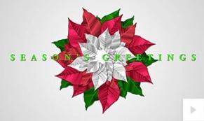 Seasonal pointsettia holiday ecard thumbnail
