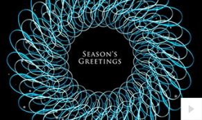 Intricate Wreath holiday e-card thumbnail