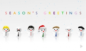 jolly snowmen holiday e-card thumbnail