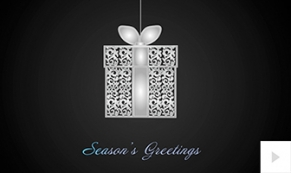 elegant twirl holiday e-card thumbnail