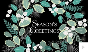 floral wreath holiday e-card thumbnail