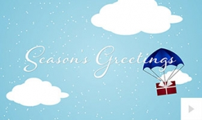 Traveling Gift holiday ecard thumbnail