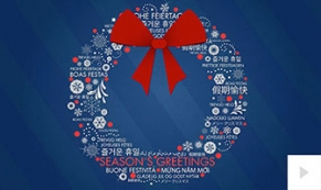 Wreath Words holiday e-card thumbnail