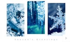 Elegant Icicles holiday e-card thumbnail