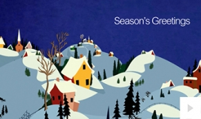Winter Village ecard