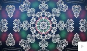 Kaleidoscope Snowflake Dark Blue ecard